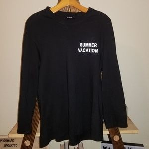 OTHERMIX | Black Long Sleeve Tee Summer Vacation